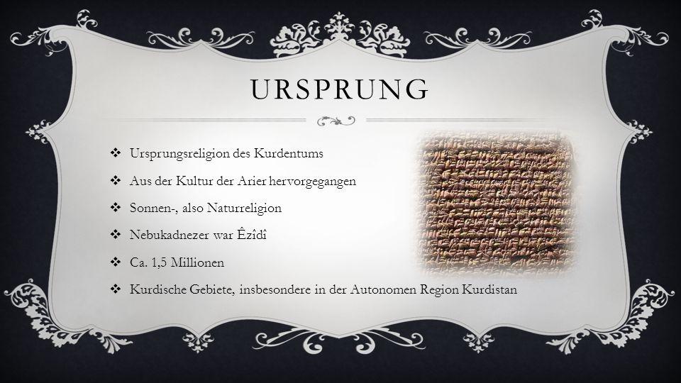 Ursprung Ursprungsreligion des Kurdentums
