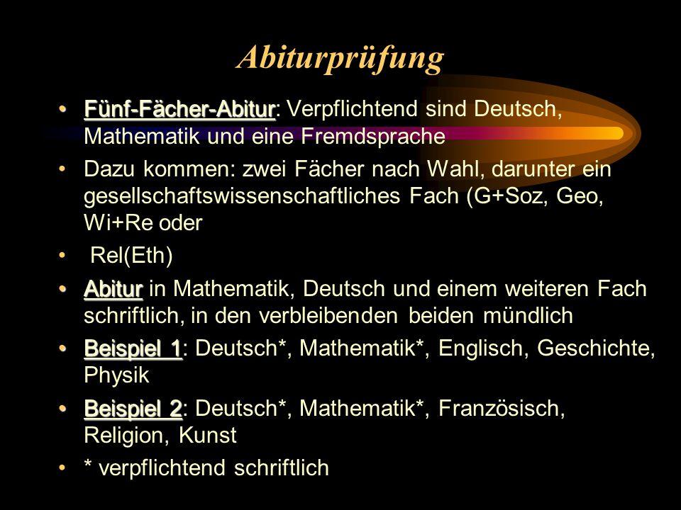 Abiturprüfung Fünf-Fächer-Abitur: Verpflichtend sind Deutsch, Mathematik und eine Fremdsprache.