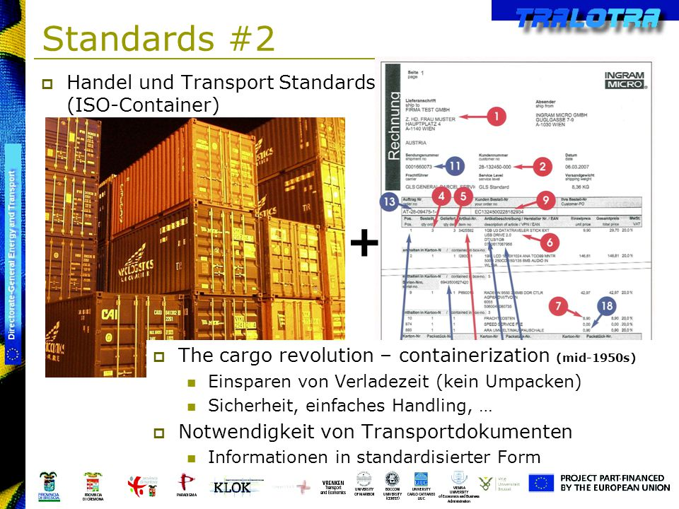 + Standards #2 Handel und Transport Standards (ISO-Container)