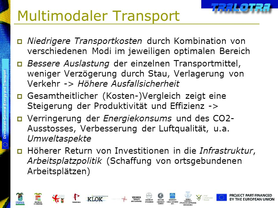 Multimodaler Transport