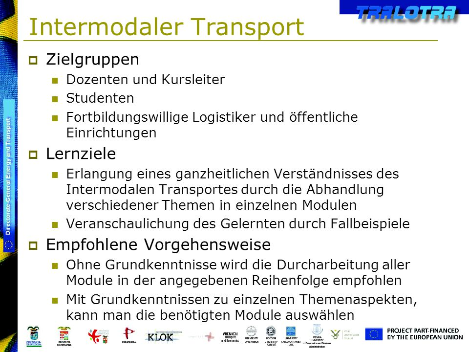 Intermodaler Transport