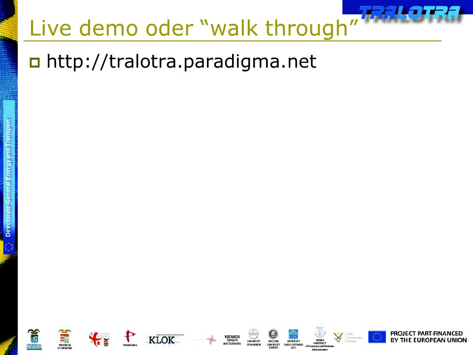 Live demo oder walk through