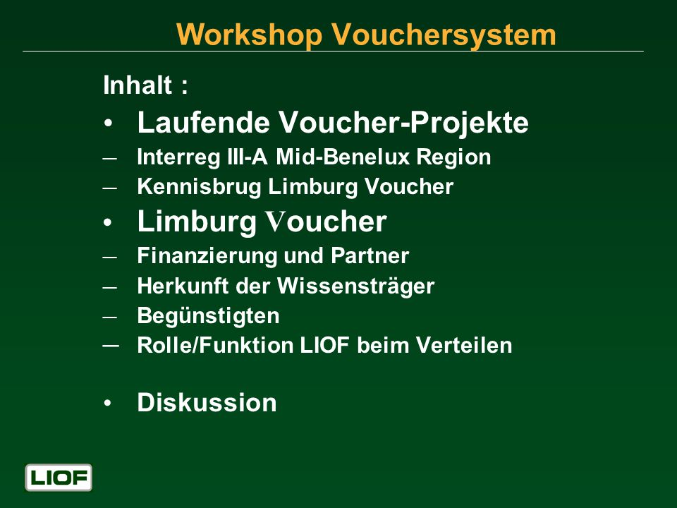 Workshop Vouchersystem