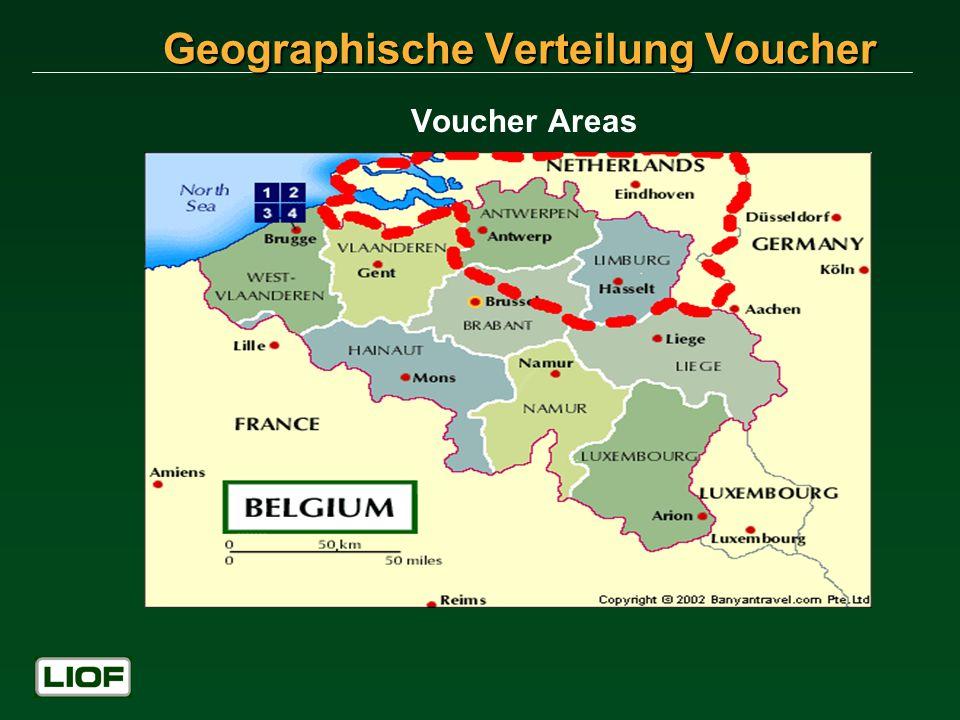 Geographische Verteilung Voucher