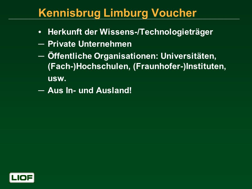 Kennisbrug Limburg Voucher