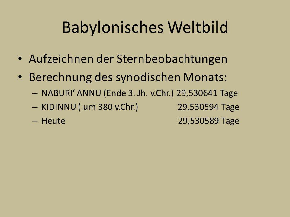 Babylonisches Weltbild