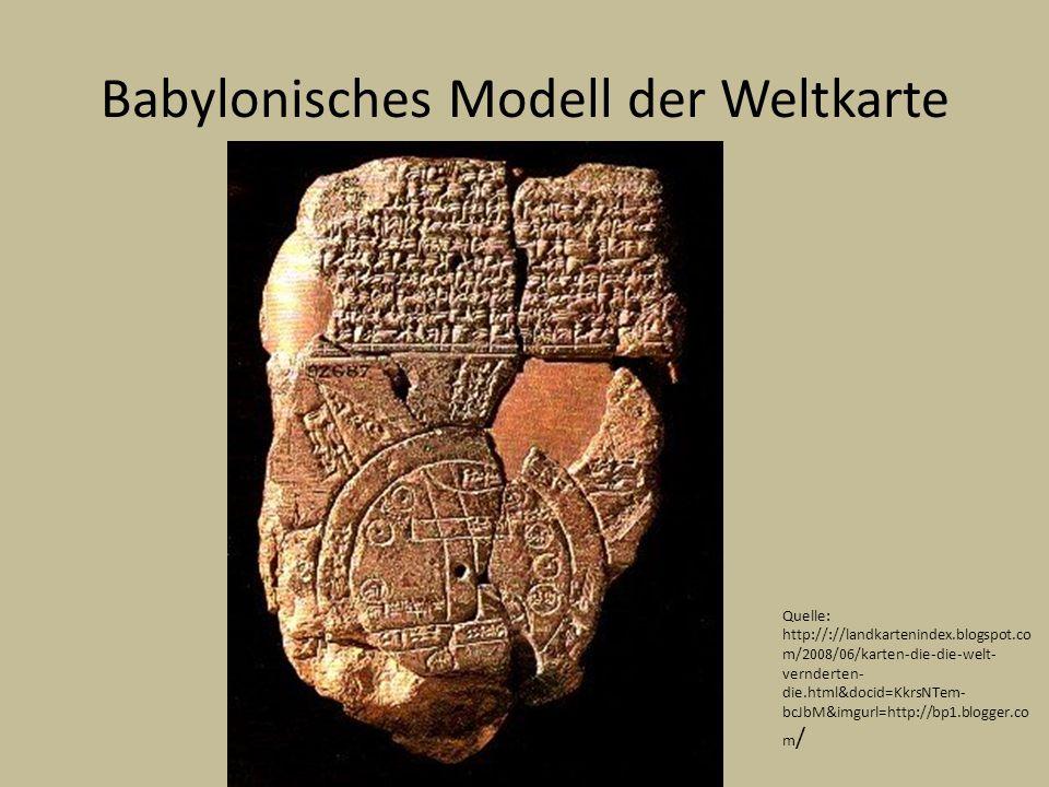 Babylonisches Modell der Weltkarte