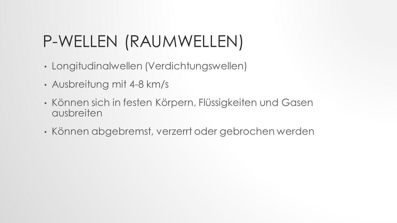 P-Wellen (Raumwellen)