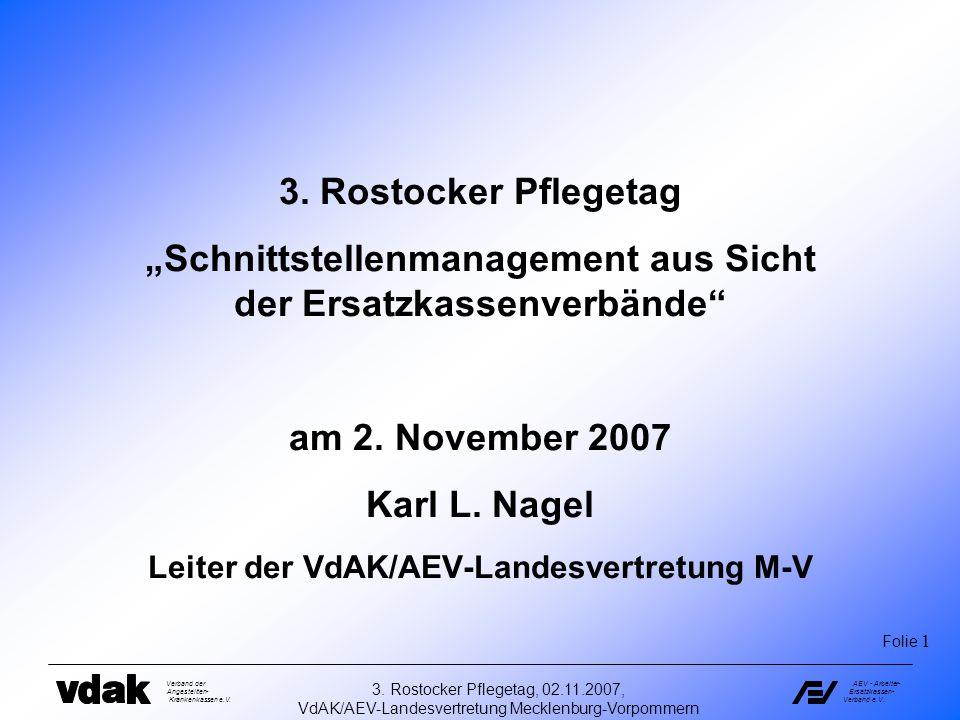 """""""Schnittstellenmanagement aus Sicht der Ersatzkassenverbände"""