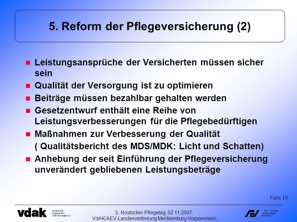 5. Reform der Pflegeversicherung (2)