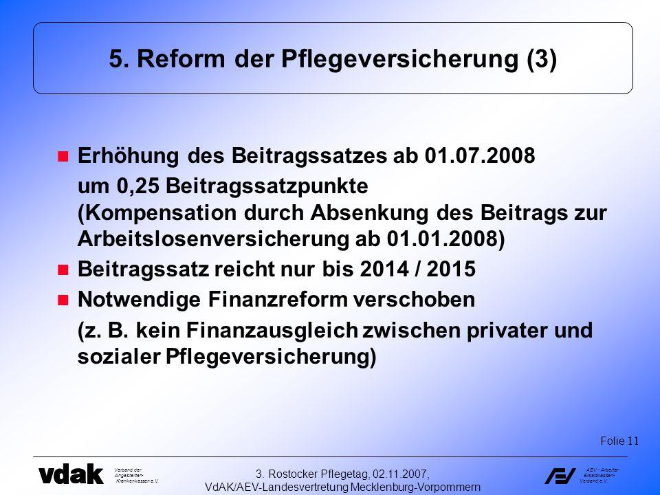 5. Reform der Pflegeversicherung (3)