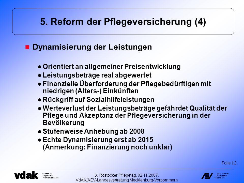 5. Reform der Pflegeversicherung (4)