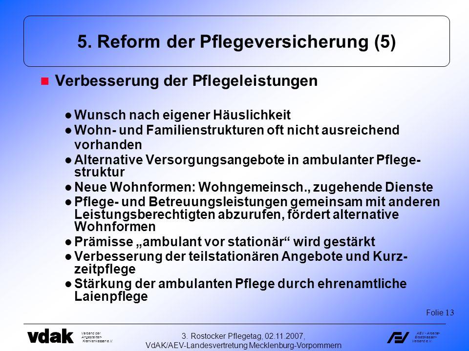 5. Reform der Pflegeversicherung (5)