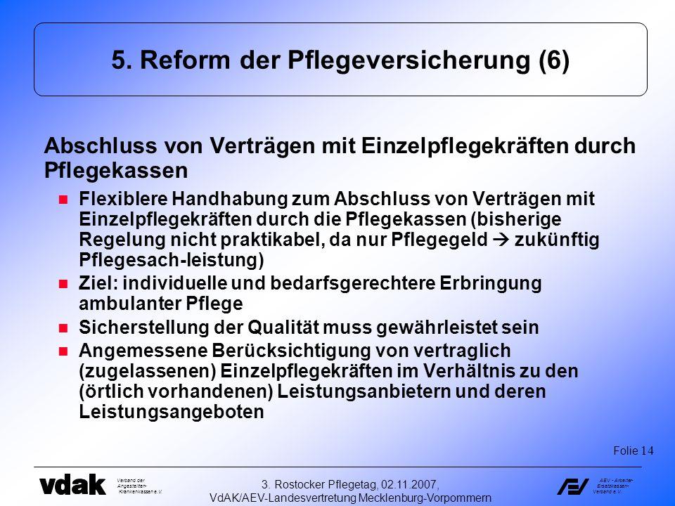 5. Reform der Pflegeversicherung (6)