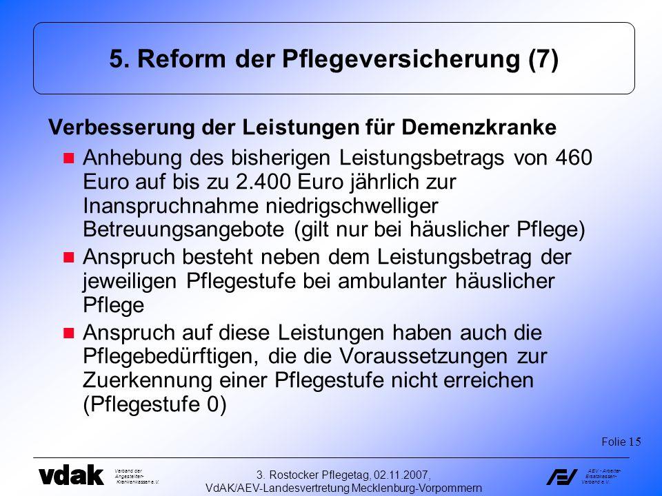 5. Reform der Pflegeversicherung (7)