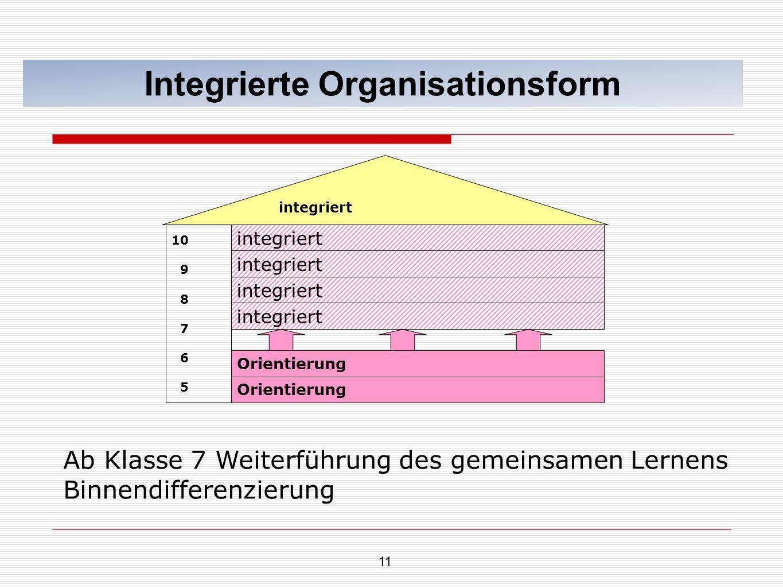Integrierte Organisationsform