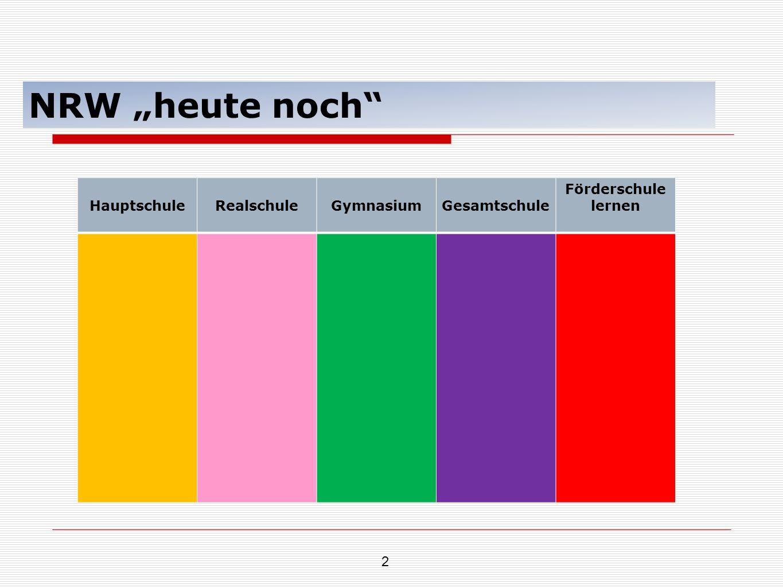 """NRW """"heute noch Hauptschule Realschule Gymnasium Gesamtschule"""