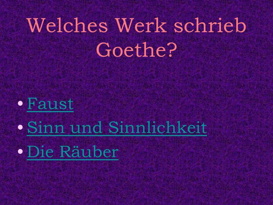 Welches Werk schrieb Goethe
