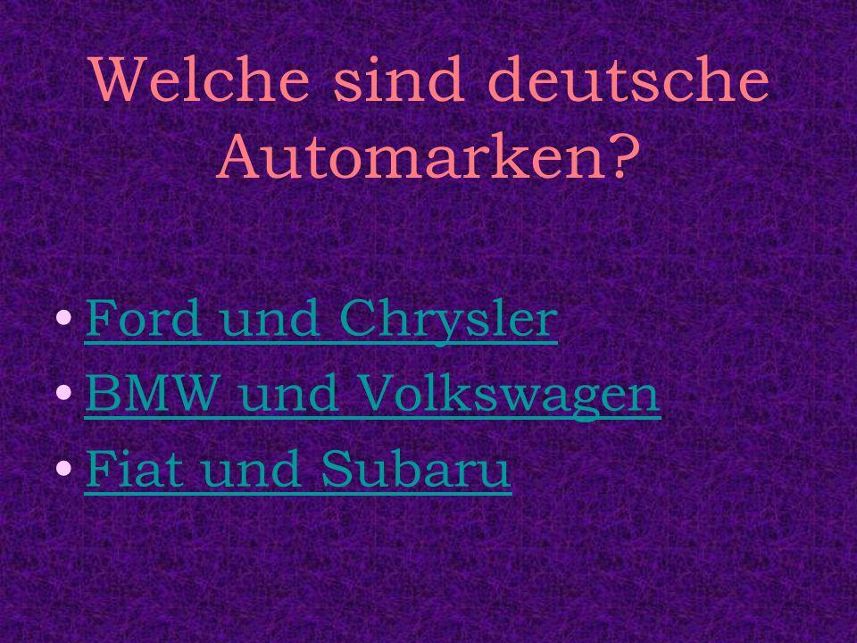 Welche sind deutsche Automarken