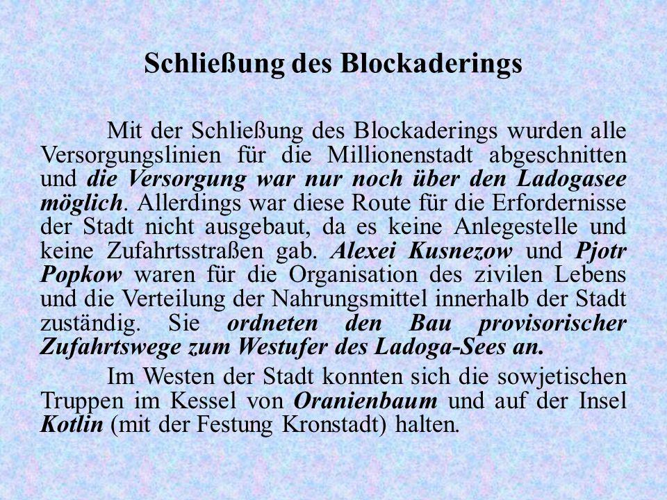 Schließung des Blockaderings