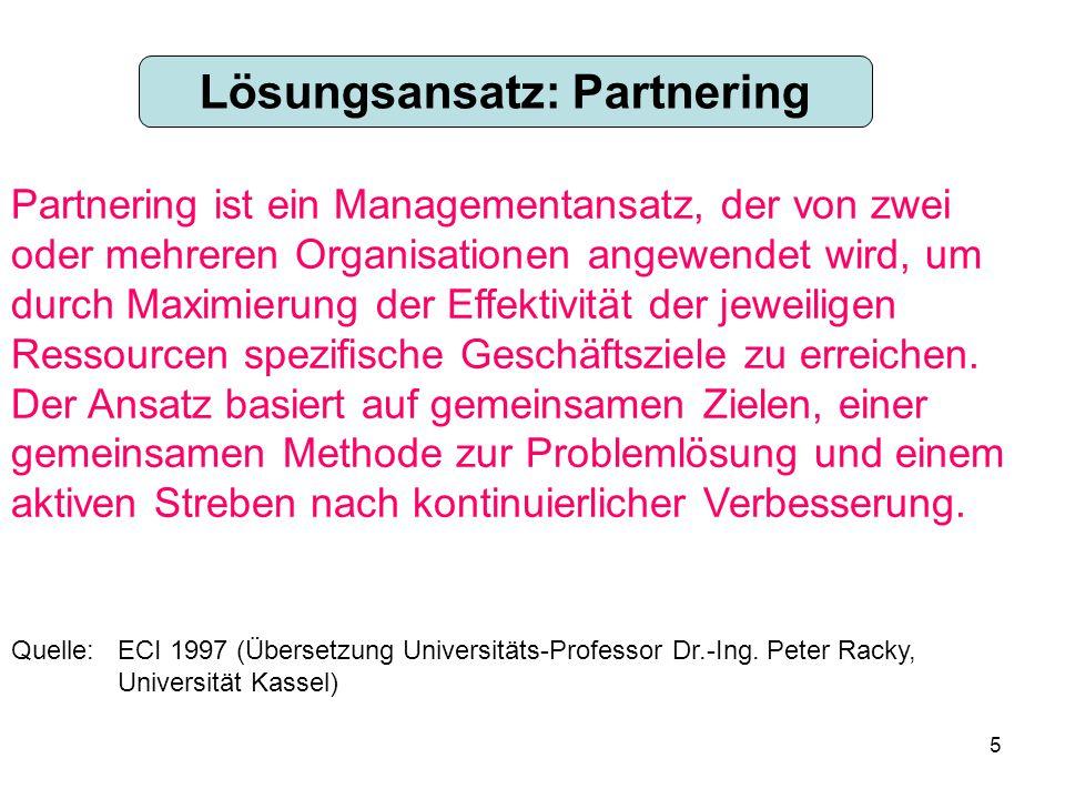 Lösungsansatz: Partnering