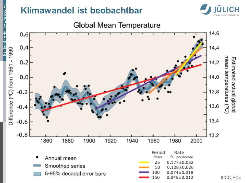 Klimawandel ist beobachtbar