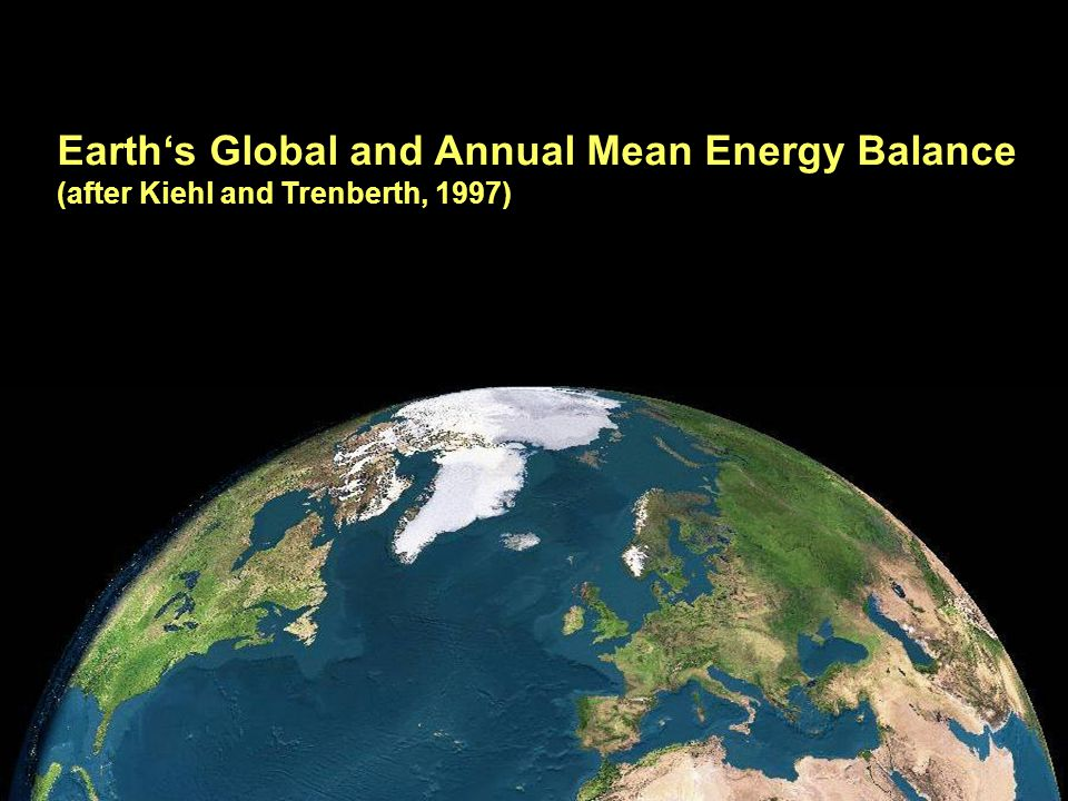 Earth's Global and Annual Mean Energy Balance
