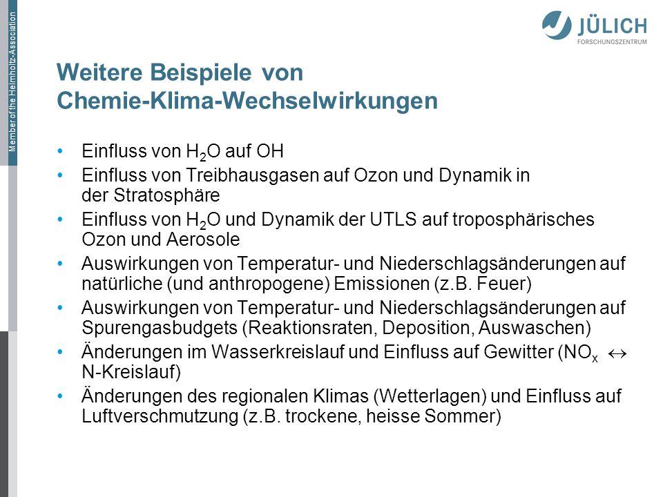 Weitere Beispiele von Chemie-Klima-Wechselwirkungen