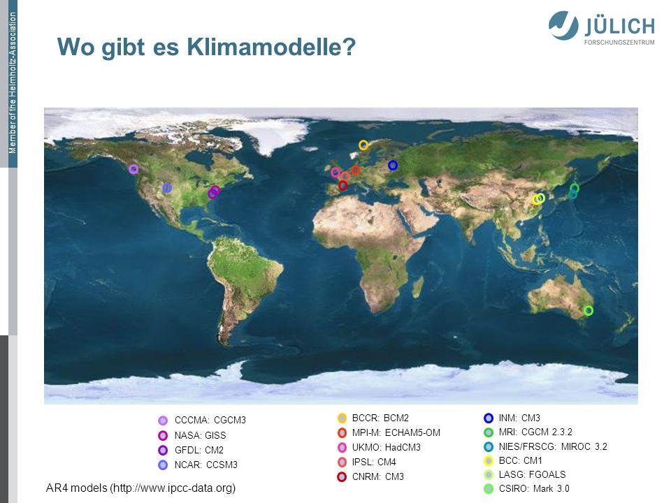 Wo gibt es Klimamodelle