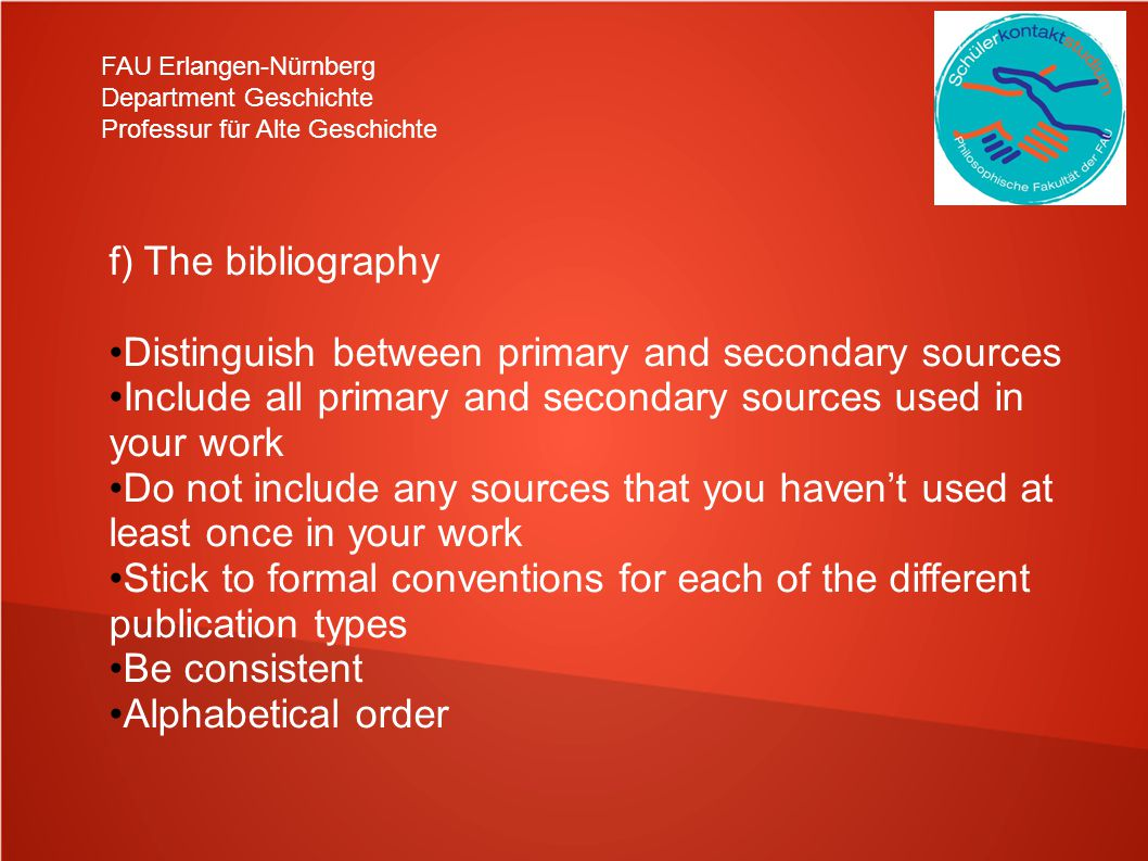 Distinguish between primary and secondary sources