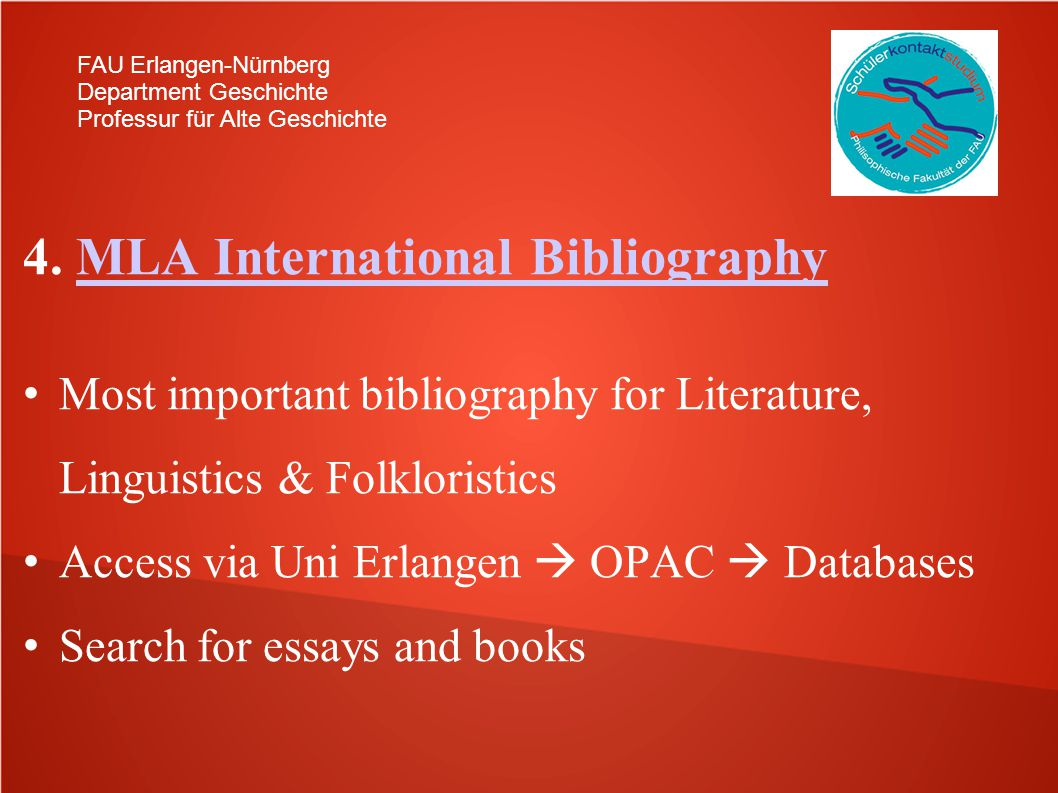 4. MLA International Bibliography