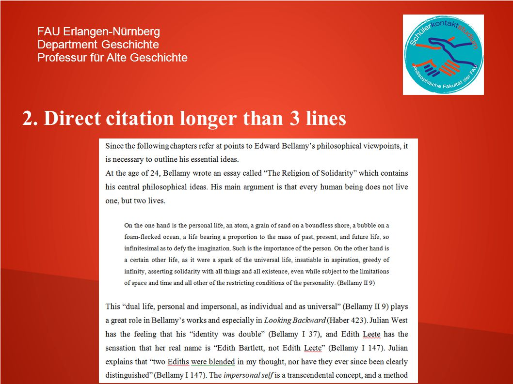 2. Direct citation longer than 3 lines