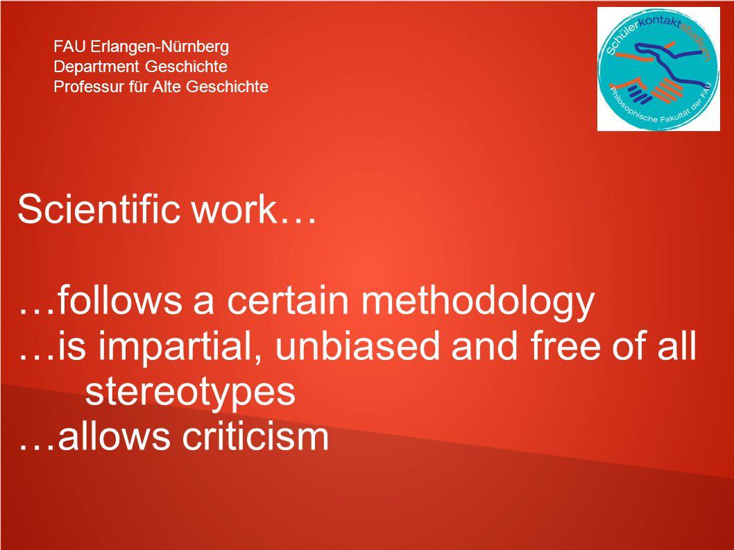 …follows a certain methodology