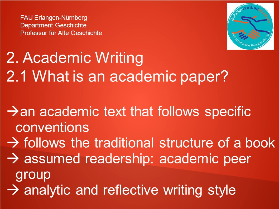 2.1 What is an academic paper