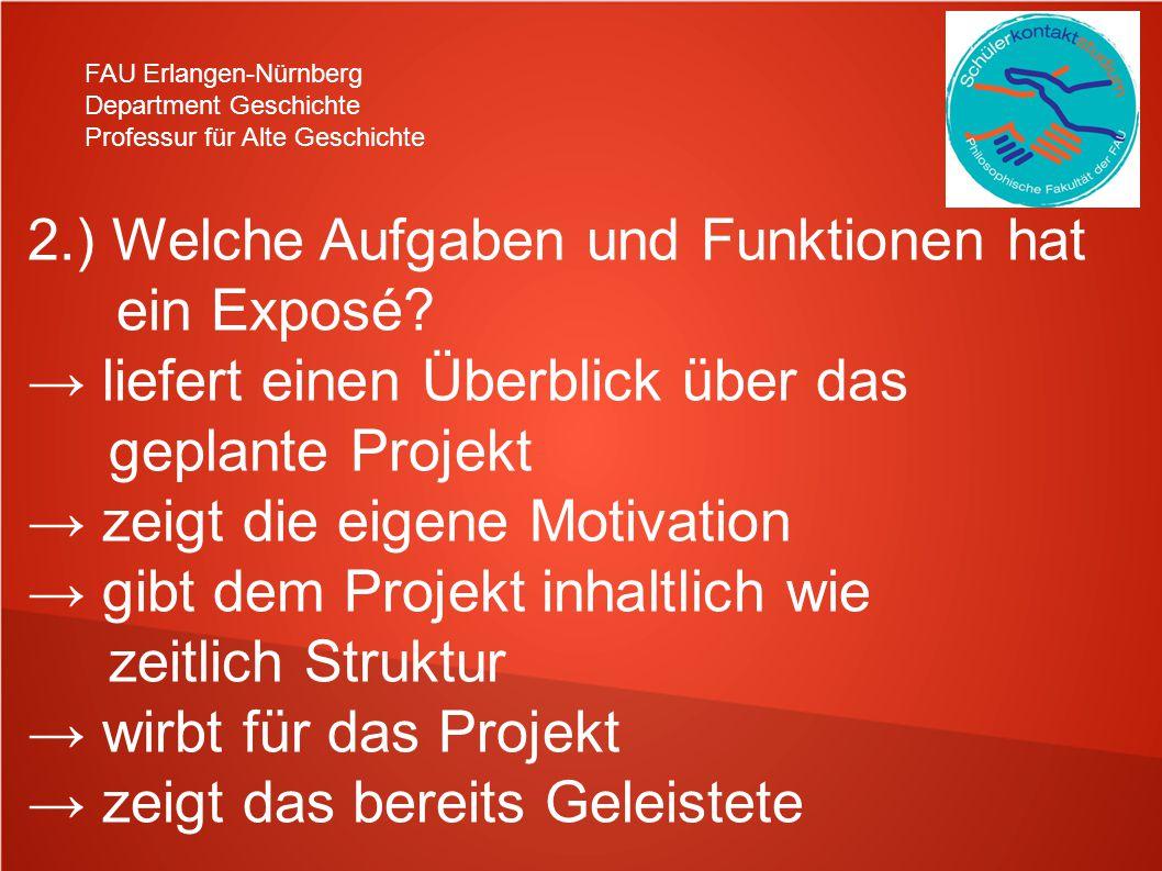 2.) Welche Aufgaben und Funktionen hat ein Exposé