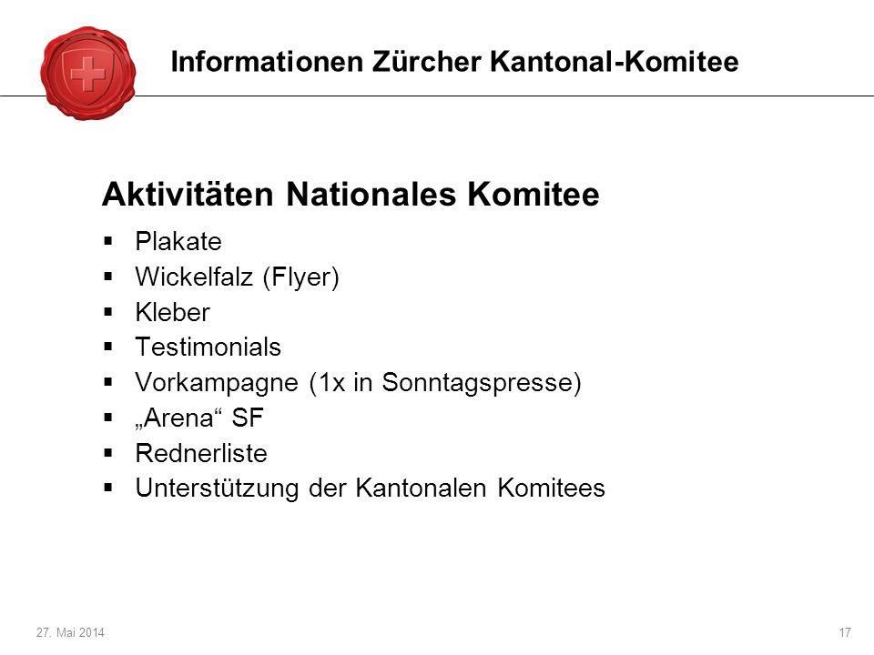 Aktivitäten Nationales Komitee