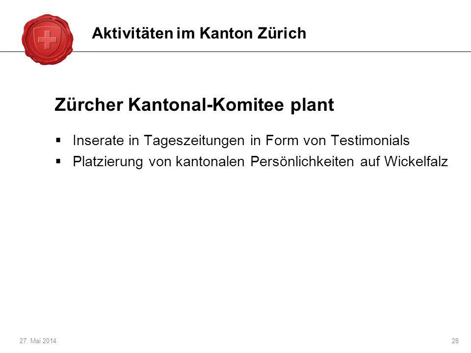 Zürcher Kantonal-Komitee plant
