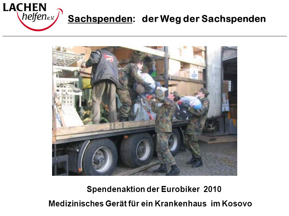 Spendenaktion der Eurobiker 2010