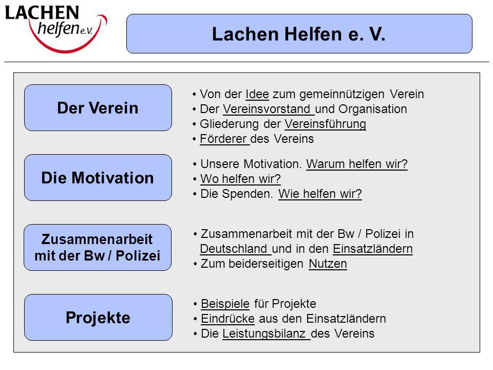 Lachen Helfen e. V. Übersicht Der Verein Die Motivation Projekte