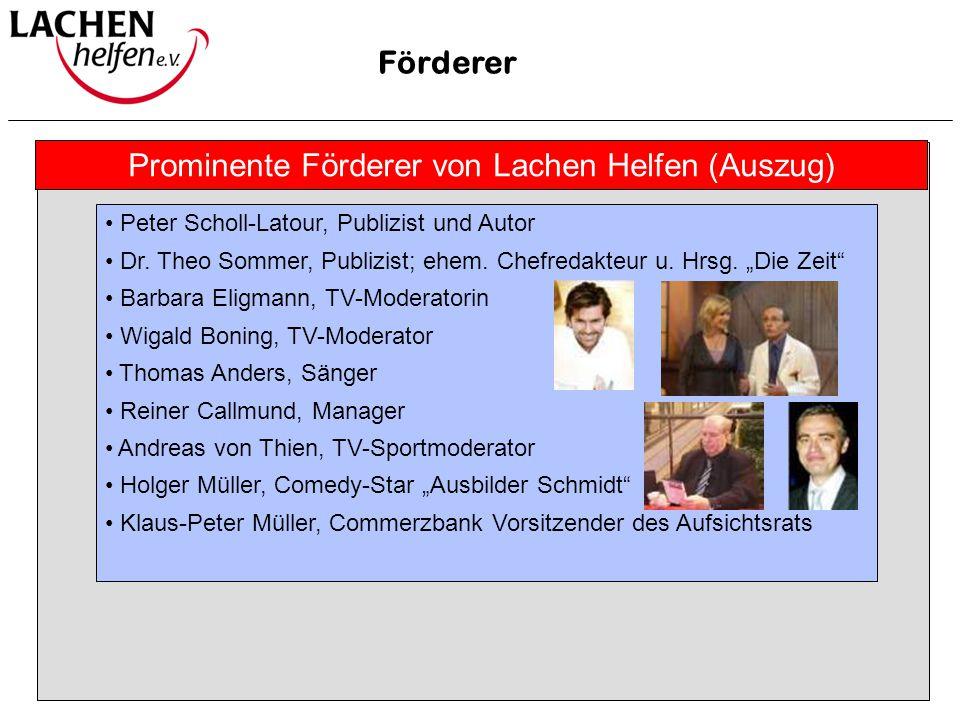 Prominente Förderer von Lachen Helfen (Auszug)