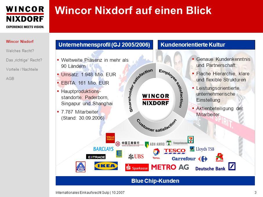 Wincor Nixdorf auf einen Blick