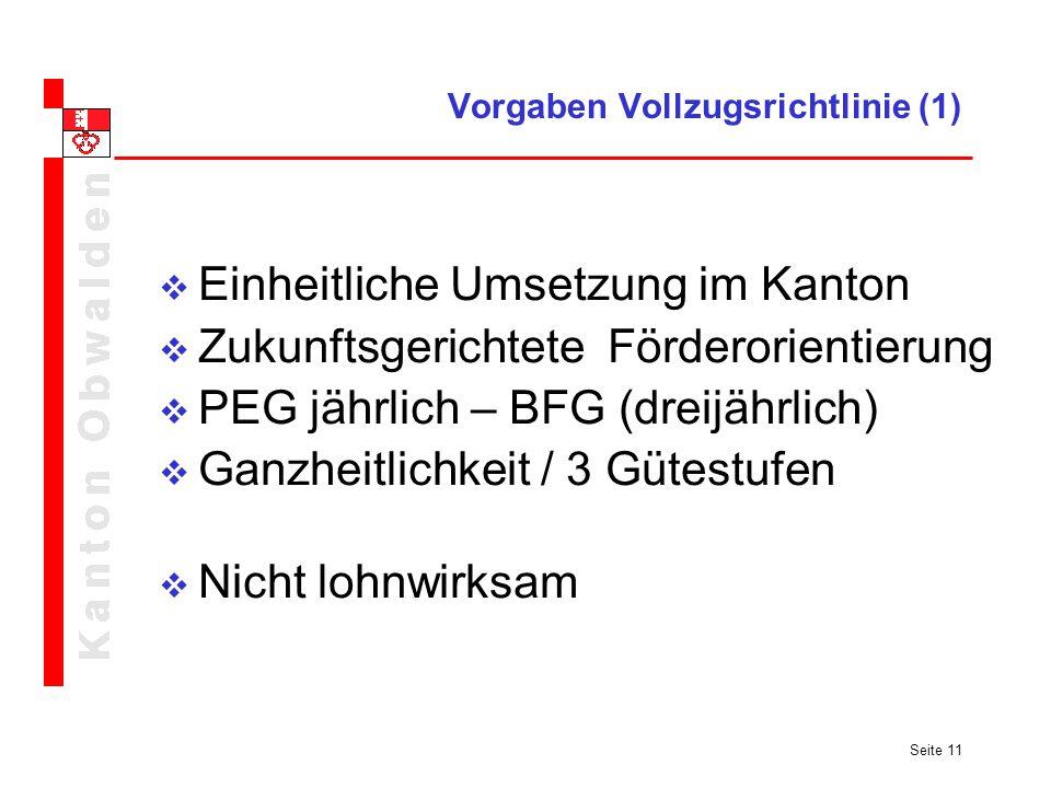 Vorgaben Vollzugsrichtlinie (1)