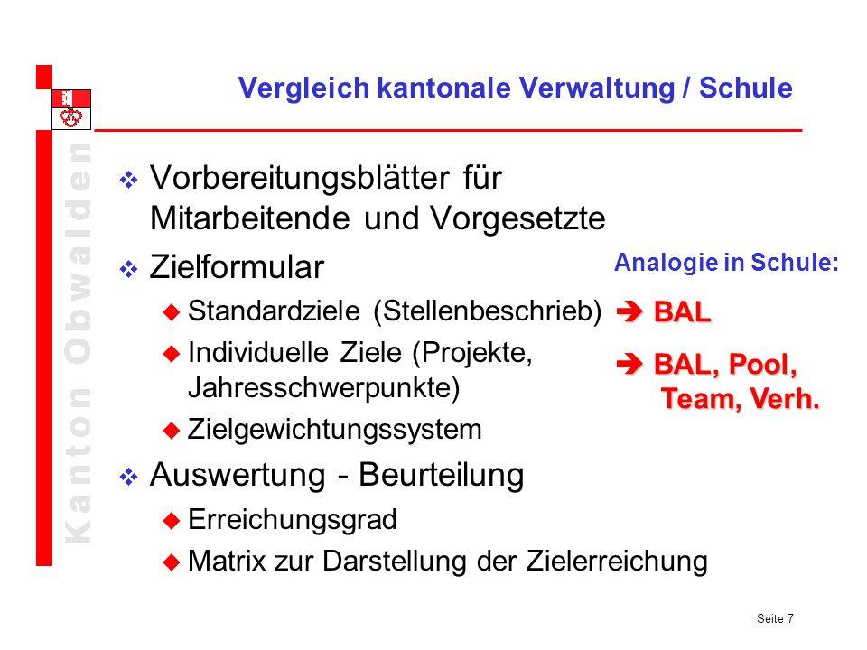 Vergleich kantonale Verwaltung / Schule