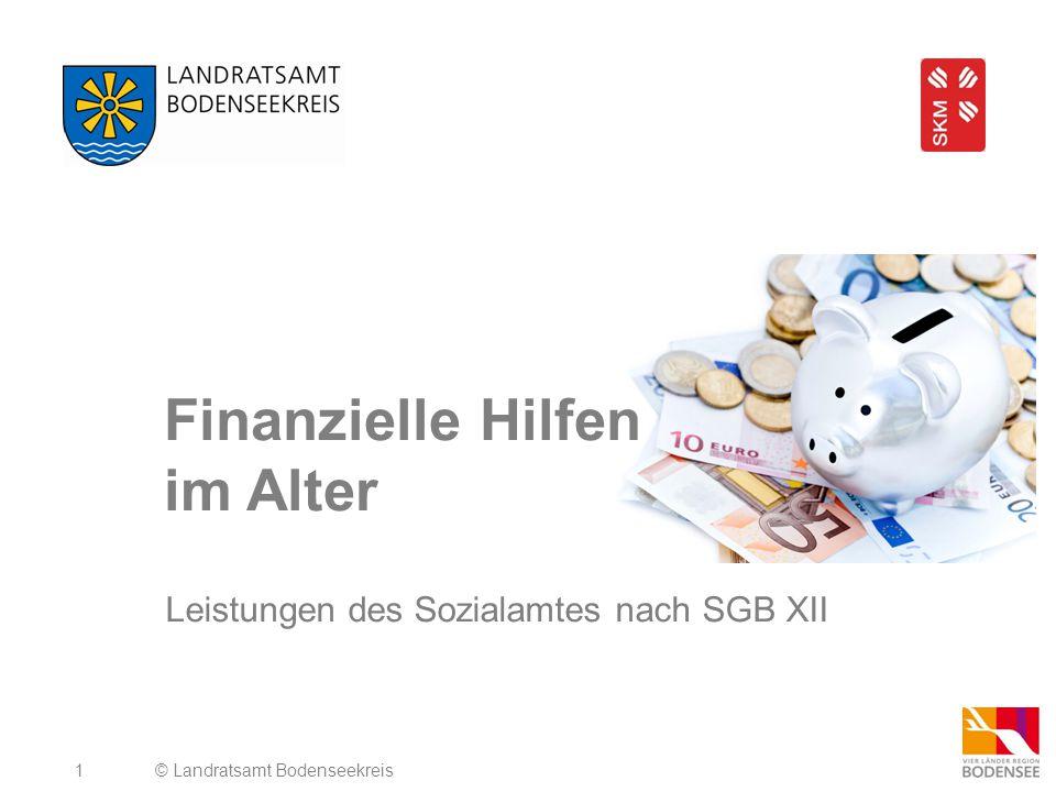Finanzielle Hilfen im Alter
