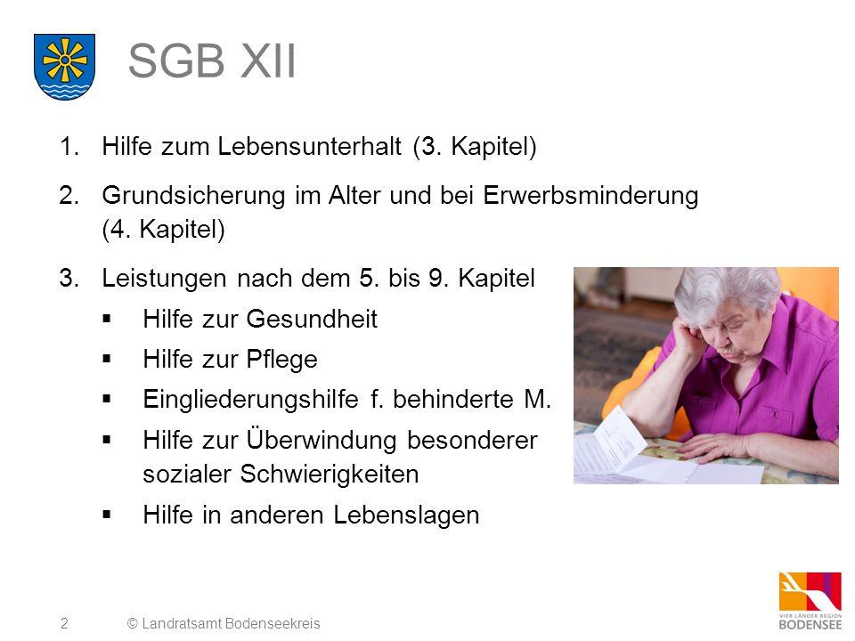 SGB XII Hilfe zum Lebensunterhalt (3. Kapitel)
