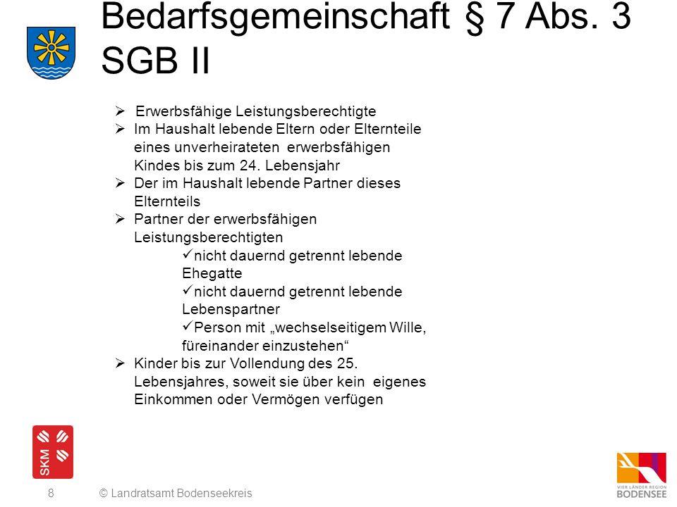 Bedarfsgemeinschaft § 7 Abs. 3 SGB II