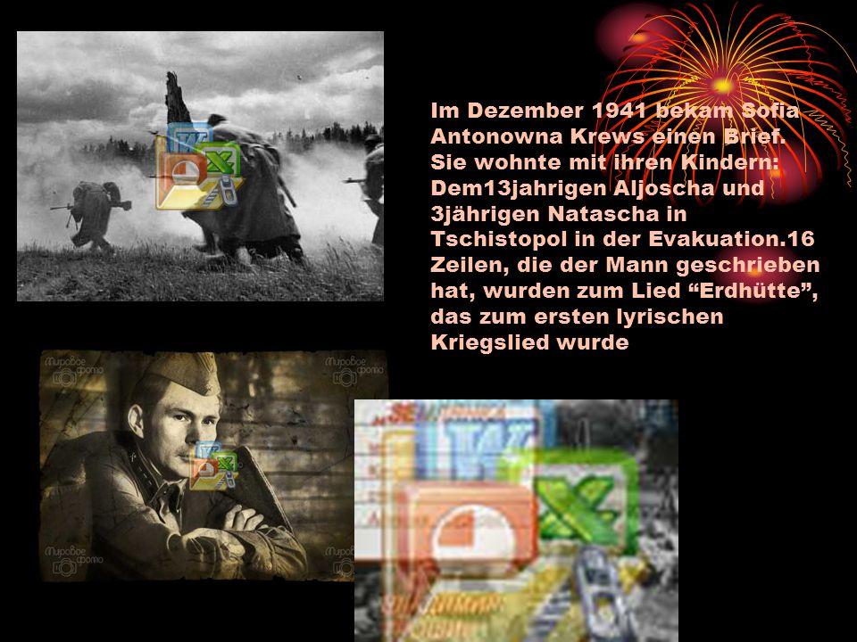 Im Dezember 1941 bekam Sofia Antonowna Krews einen Brief