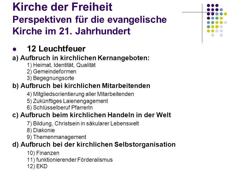 Kirche der Freiheit Perspektiven für die evangelische Kirche im 21