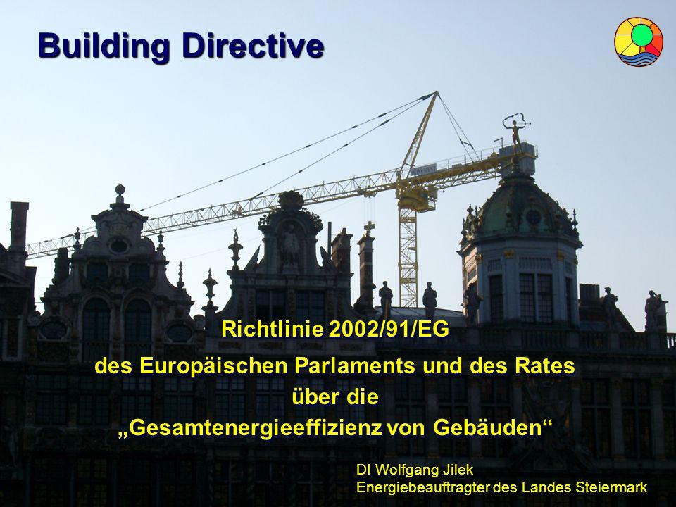 Building Directive Richtlinie 2002/91/EG