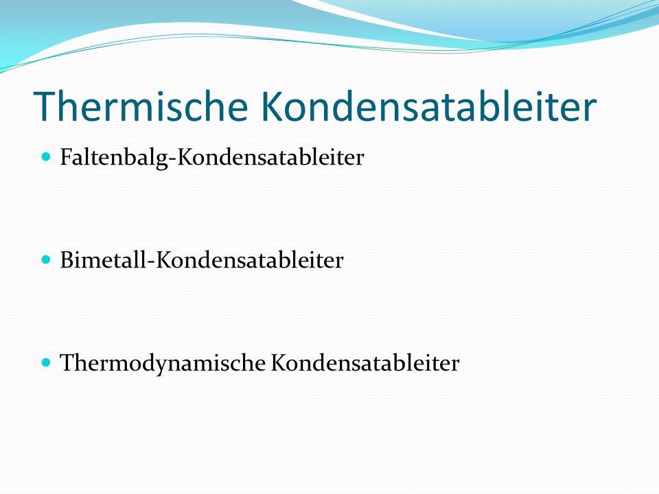 Thermische Kondensatableiter